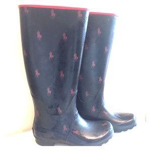 Ralph Lauren Rain Boots. - Size 7